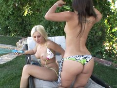 Lesbian Fun With Bikini Whores In A Hot Summer Day