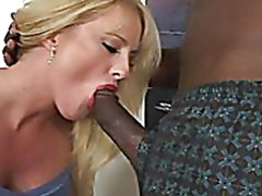 Dirty Blonde Gal in Hardcore Interracial Clip