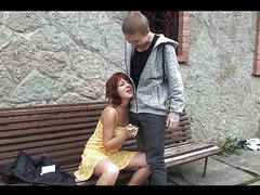 Rough Sex In The Porch With A Redhead Teen
