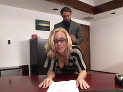 Sexy Secretary Rides Her Boss' Big Cock