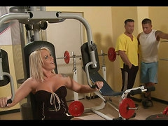 An Amazing Foursome In The Gym