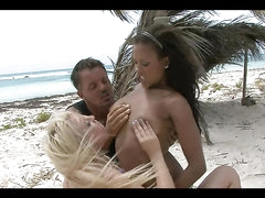 A Beach Threesome With Ethnic Hotties