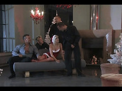 Christmas Gangbang For A Slutty Blonde