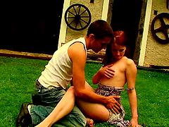 A Country Garden Fuck For Teeny Couple