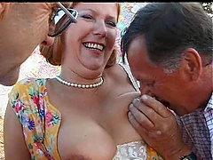 Old Mature Threesome Sex With Fatty..