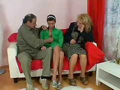 Horny Old Couple Have a Hot Threesome..