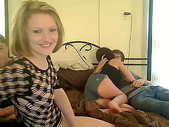 Amateur Orgy with Two Horny Teens