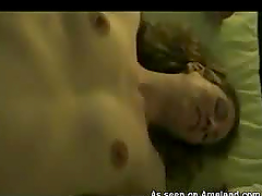 Video of the blonde wife getting herself horny prior to bang with her spouse