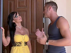 Jewels Jade Fucks a Horny Guy By The..