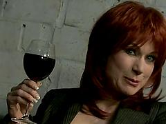 Redhead Nina Stein fucks with her..