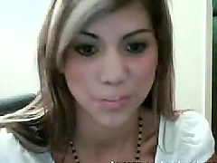 Skinny Latina teen shows her shaved..