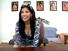 Slutty Brunette Gets Office Fucked