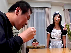 Old Japanese maid asks her master to..