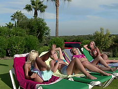Sunbaked Orgy with four smoking hot..