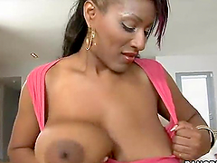 Hot ebony lady with really big boobs..